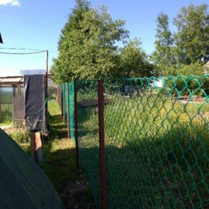 Зеленая сетка-рабица
